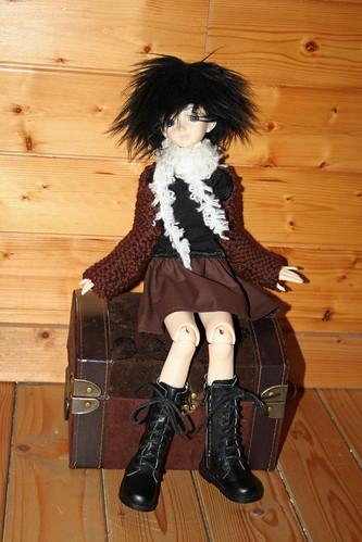 Brown doll skirt