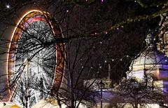 Cardiff Winter Wonderland Park (welshio) Tags: lighting christmas uk longexposure nightphotography winter light blur southwales wales night stars fairgrounds movement europe cityhall wheels cardiff parks carousel christmaslights caerdydd ferriswheel welsh bigwheel picturesque winterwonderland pictorial mixedlighting themeparks artificiallighting longlens colourtemperature gettyholidays2010 welshlandmarks
