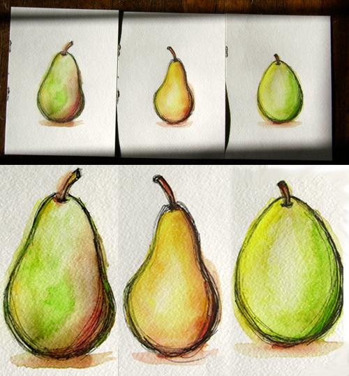 Pear Triptych