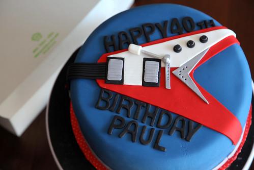 Paul's Flying V guitar cake