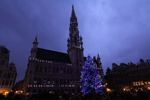 Brussels' magnificent town hall on Grand Place