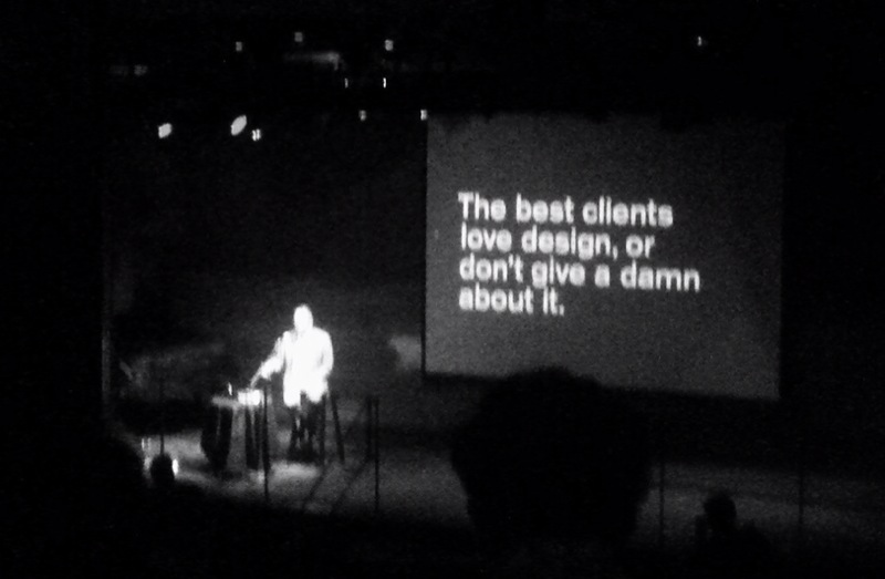 the best clients love design, or don't give a damn about it. Michael Beirut at creativemorning
