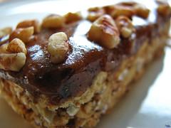 Macro 31: 16 - Kashi's Pumpkin Pie Bar (DenisGiles) Tags: food macro closeup bar canon project pumpkin glare nuts syrup oats kashi pecans powershots3 denisgiles kashipumpkinpiebar