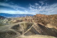 Death Valley (wili_hybrid) Tags: california trip travel blue winter vacation sky usa brown mountain holiday mountains color nature beautiful rock clouds america landscape geotagged photography photo nikon scenery colorful day unitedstates desert cloudy photos hills american deathvalley hdr