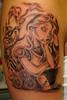 alice (Billy Whaley Tattoo) Tags: new woman white black tattoo ink cat grey arm alice kentucky tail badass indiana disney albany louisville mad custom ideas girlie daisey asgard hater custon wonerland