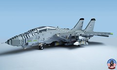 Tophatters F-14A Tomcat (2) (Mad physicist) Tags: model fighter lego aircraft military usnavy tomcat 136 ussenterprise grumman f14a tophatters