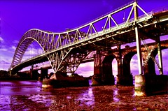 Purple Rain (Shertila Tony) Tags: england river europe purple cheshire mud britain hdr ohhh runcorn widnes rivermersey runcornbridge platinumheartaward creattivit