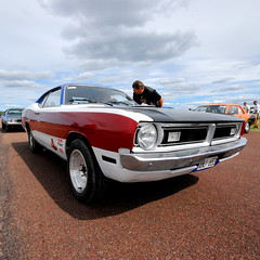 (MoStuff Sthlm) Tags: race vintage drag 1971 71 racing strip demon dodge mopar sthlm dragway orsa mopars mostuff tallhed
