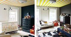 jenna lyon's son's room (Amber Rohrer) Tags: stripes kidsroom blackwall nusery