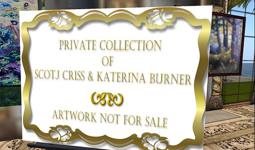 private art collection of scotj criss & katerina burner