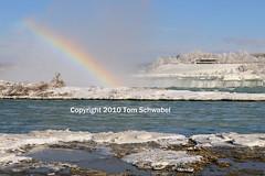 Toward the Brink (pdxsafariguy) Tags: winter snow ontario canada cold ice niagarafalls waterfall rainbow horseshoefalls tomschwabel