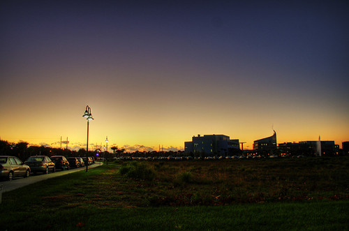 campus sunrise HDR