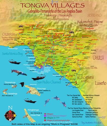 Tongva Villages Los Angeles