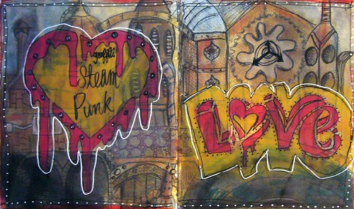 Steampunk Journal Page by Carrie Todd of My Studio 13