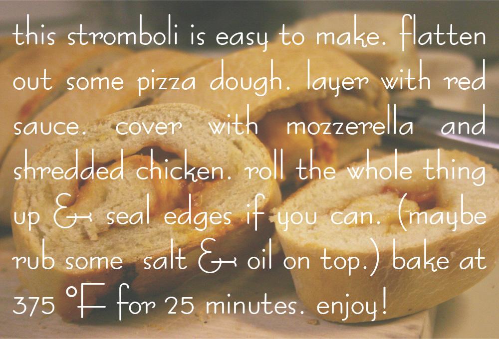 stromboli recipe