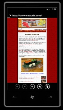 Browser on Windows Phone 7 Series