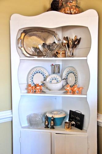 repainted corner cabinet