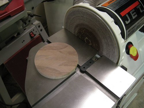 coaster on disc sander