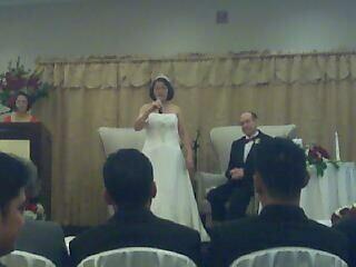 I love weddings, especially where the bride sings karaoke!