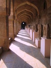 590. Hampi (8): Museum (profmpc) Tags: india history museum corridor stonecarving hm karnataka hampi vijayangara krishnadevarayar guardslodging