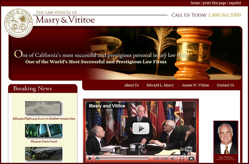 Masry & Vititoe - Website Screengrab