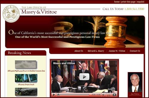 Masry & Vititoe - Website Screengrab
