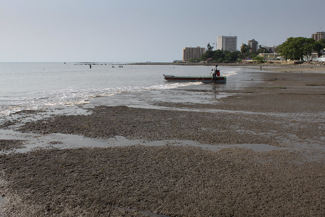 trashed beaches of Libreville