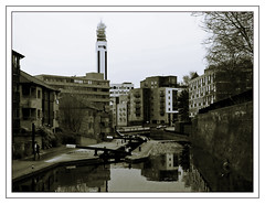 P2274070-1 (ikkio_too) Tags: bw canal birmingham olympus duotone e1 waterscape zd 1454mm