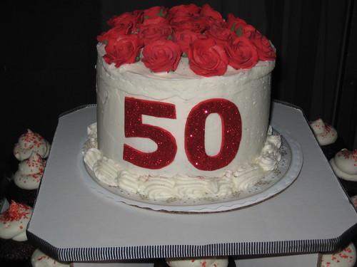 50th Birthday Surprise Party Cupcake Tower Cake