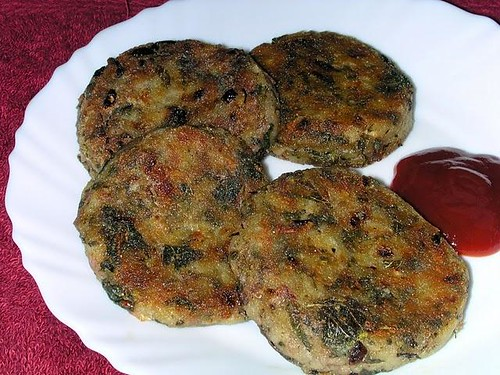 Amaranth Cutlets @ Enriching Your Kids