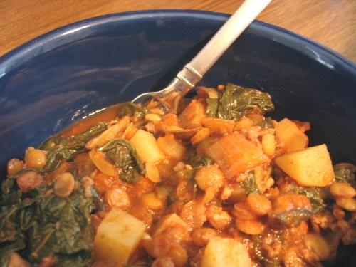 Sausage, Lentil & Kale Stew