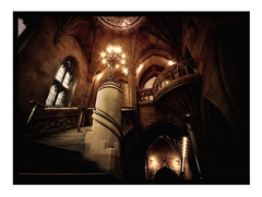 John Rylands Library. (Leon Moss) Tags: house john manchester lights gallery library lancashire haunted upper rylands