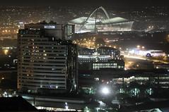 View From The Embassy (Chris Bloom) Tags: world city building cup skyscraper southafrica football flickr cityscape meetup stadium fifa centre smithstreet embassy 2010 durban kwazulunatal hiltonhotel mosesmabhida aliwalstreet