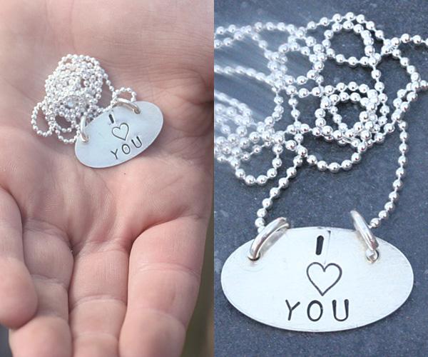 Caleb made me a necklace!