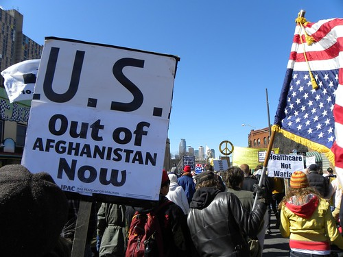 Protest against the war in Afghanistan