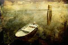the snowy boat revisited (kanelstrand) Tags: snow texture boat gimp surreal textured skeletalmess bocaccino kanelstrand