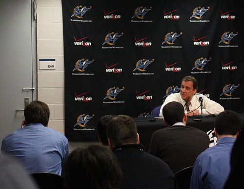 Flip Saunders, Washington Wizards, Press Conference