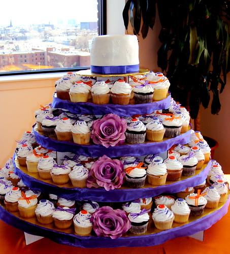 Wedding Cupcake Tower: Turid's Blog: Arrangements Of Purple Sweet Peas Pale Blue