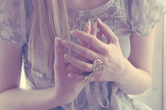 (_acido) Tags: rain vintage butterfly hair soft dress ring canoneos450d henad