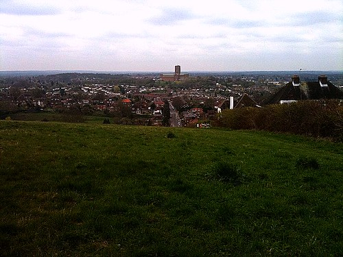 Guildford Cathedral from The Mount