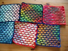 knitted dishcloths (Vilseskogen) Tags: new usa knitting dish handmade creative nj commons dishcloth cotton jersey knitted cloth ballband vilseskogen