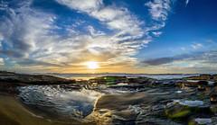 Panoramic View (moreno1024) Tags: blue sunset panorama sun la nikon san sandiego pano tide diego bluesky lajolla panoramic bluehour lajollashores tidepool panoramics nikond3200 d3200