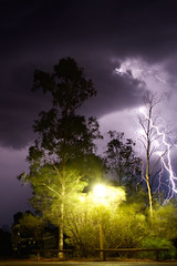 Lightening strike at our campsite (Byron Taylor) Tags: emu northernterritory nt sa southaustralia australia outback birds wildlife storm lightening thunder canon7d canon