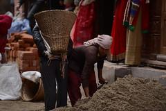 People of Bhaktapur, Nepal (dscheronimo) Tags: bhaktapur nepal nikon d800 unesco weltkulturerbe earthquake erdbeben restauration renovierung renovieren arbeiten männer bauarbeiter