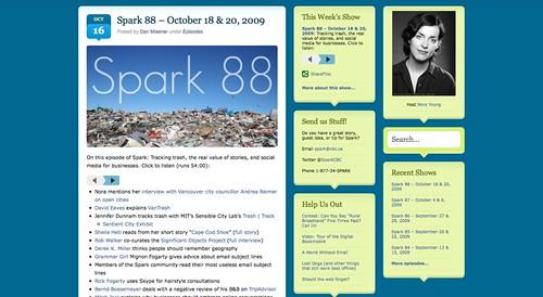 Spark 88 – October 18 & 20, 2009 | Spark | CBC Radio_1255791503819