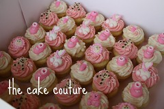 57. Baby Girl Mini Cupcakes (The Cake Couture (is currently not taking any orde) Tags: pink baby girl cupcake vanilla babyshower doha qatar