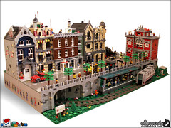 Escape From Planet Monday (Aliencat!) Tags: city houses building train subway town lego modular legoworld