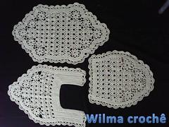 Jogo tapete bardante cru (Wilma croch) Tags: de para em jogo banheiro tapetes croch barbante
