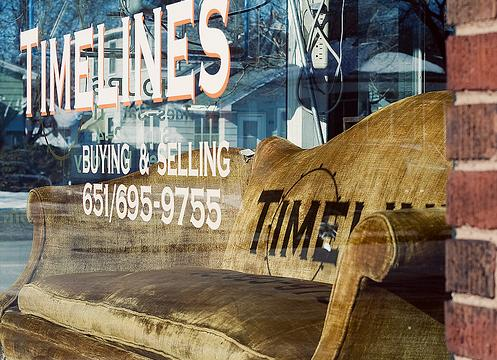 Timelines Antiques Store Window
