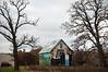 Gothic Barn (Mary Hockenbery (reddirtrose)) Tags: barn mural roadtrip iowa flickrversary us30 americangothic lincolnhighway
